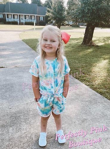 Pastel Tie Dye Shorts Set