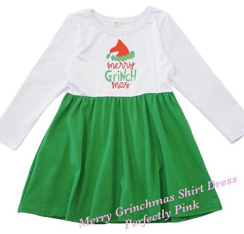 Merry Grinchmas Shirt Dress