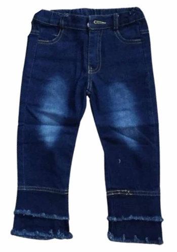 Layered  Bottom Jeans (Adjustable waist)