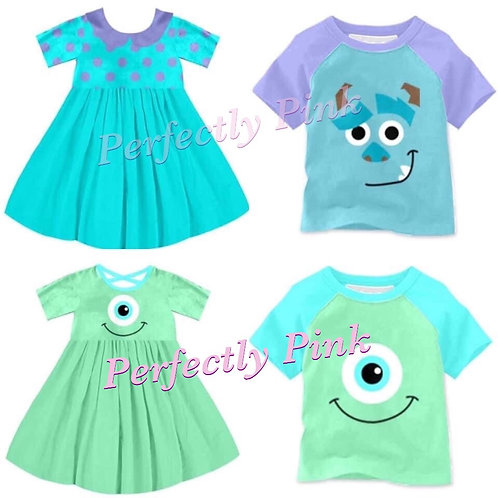 Monsters Inc. Dresses Preorder Ends 1/20