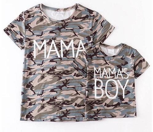 Mama's Boy Shirt or Mama Shirt Camo