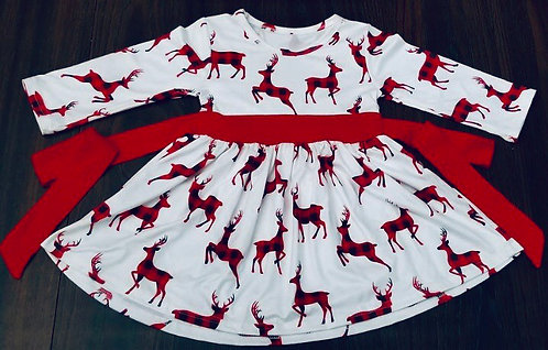 Prancing Deer Dress
