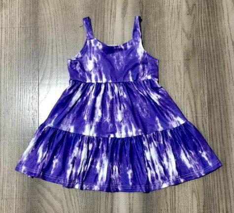 Purple or Pink Tie Dye Sun Dress