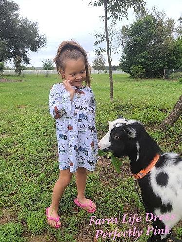 Farm Life Dress Quick Preorder Straight or Ruffle Sleeve