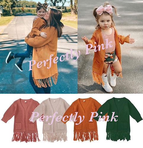 Mom & Me Fringe Sweaters Preorder Ends 9/19