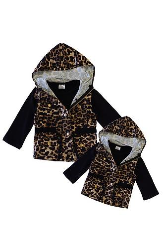 Leopard Mama & Me Vest Sets