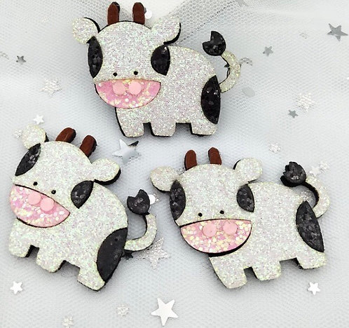 Strawberry Milk Cow Hair Clip