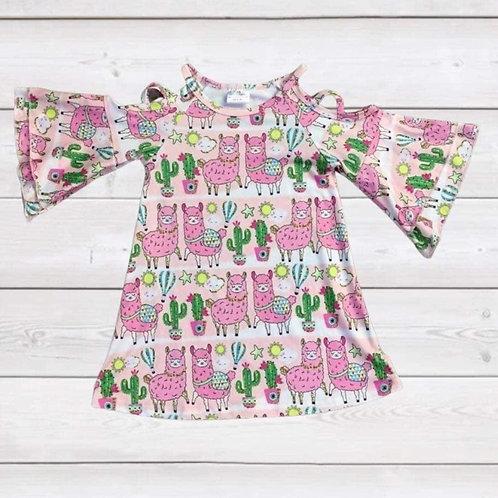 Pink Llama Dress