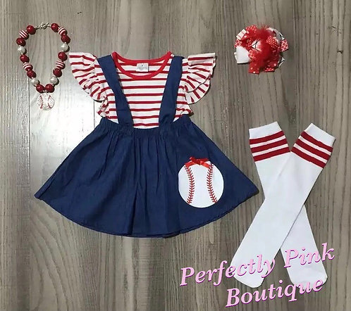 Take Me Out To The Ball Game Dress Set (Includes All Accessories)