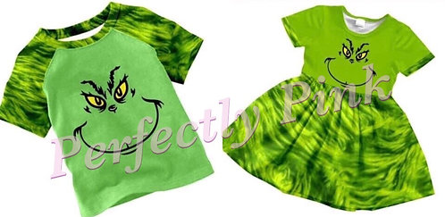 Grinchmas Grinch Dress or Grinch Shirt Preorder Ends 7/6