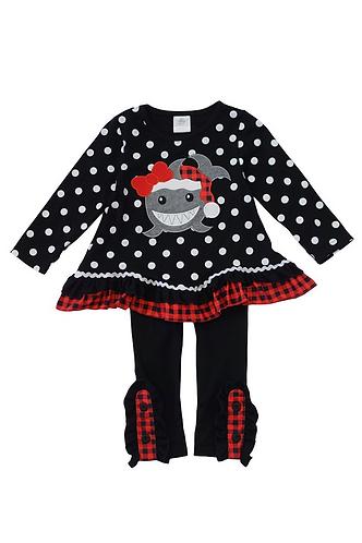 Santa Shark Outfit Set