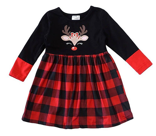 Woodland Farm Reindeer Dress