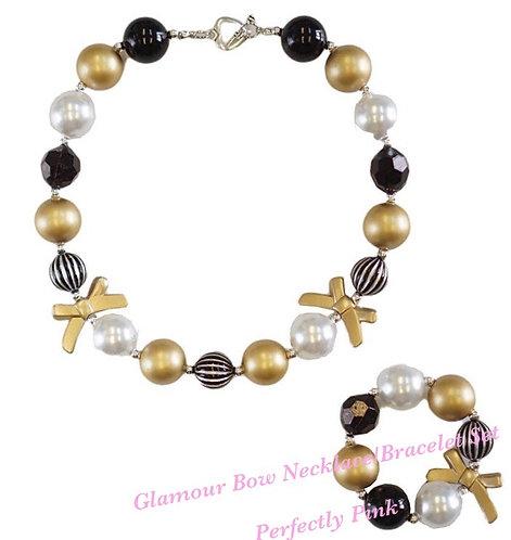 Glamour Bow Necklace/Bracelet Set