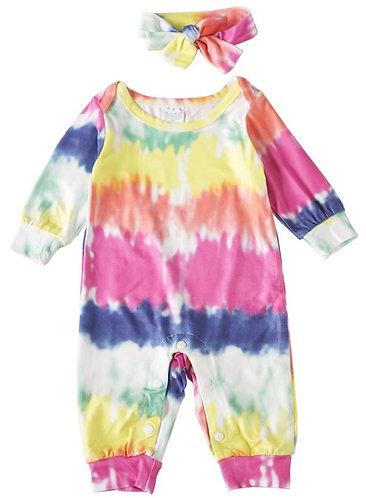 Malibu Tie Dye Romper Set
