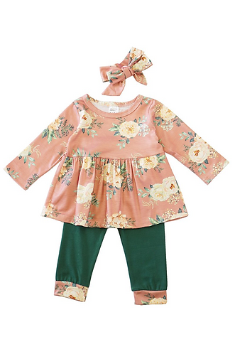 Doll Baby Floral Set