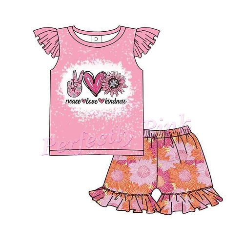 Peace Love Kindness Shorts Set Preorder Ends 2/21
