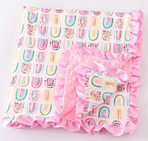 Rainbows Baby Minky Blanket