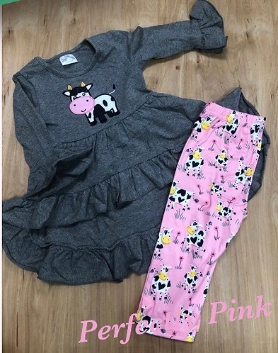 Spotted Cow Tunic Set