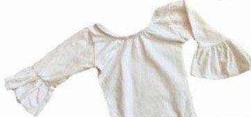 Snap Leotard Bell Sleeve