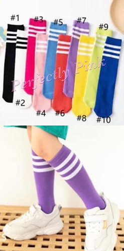 Stiped Knee High Socks (Ages3-9) Preorder Ends 4/20