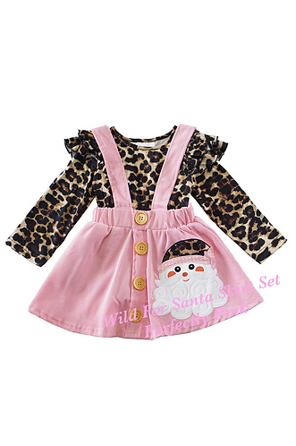 Wild For Santa Skirt Set