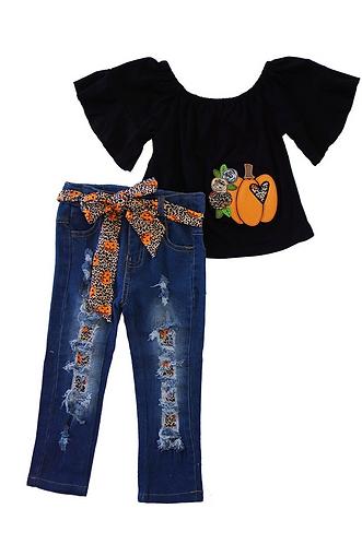 Wild Pumpkin Love Jean Set