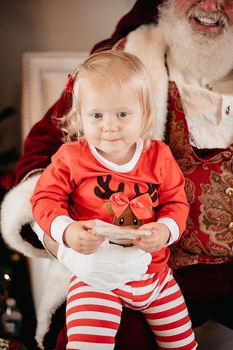 Reindeer Wear Bows Pajamas