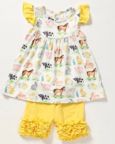Farm Babies Shorts Set