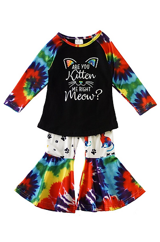 Are you Kitten Me Tie Dye Outfit