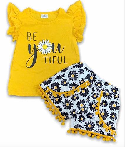 Be Youtiful Daisy Shorts Set