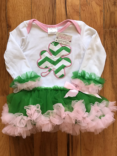 Lucky Charm Skirted Onesie Last of stock! (Sorry no codes can be used on these)