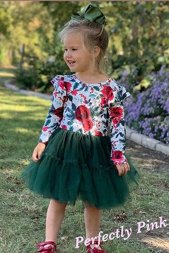 Winter Rose Holiday dress