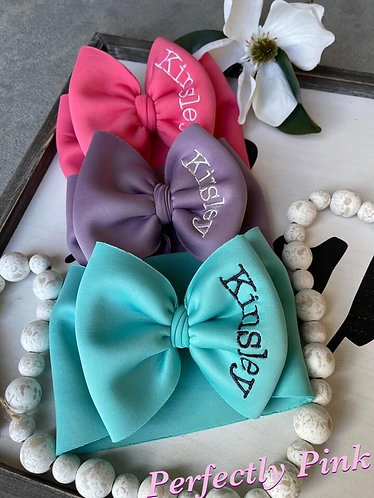 """Customized Name Bow Wide Headband  5-6"""" Preorder Ends 1/24"""