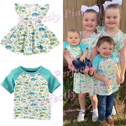 CopyDinosaur Sibling  Outfits (Boys Shirt) Preorder Ends 4/22