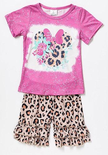 Leopard Minnie Shorts Set