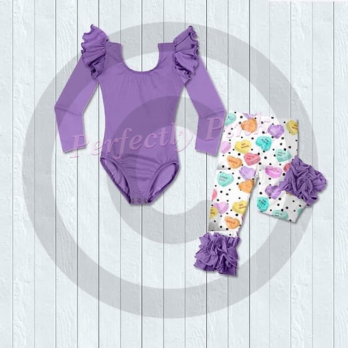 Sweethearts Leo & Ruffle Legging Sets (3 Styles) Preorder Ends 12/23