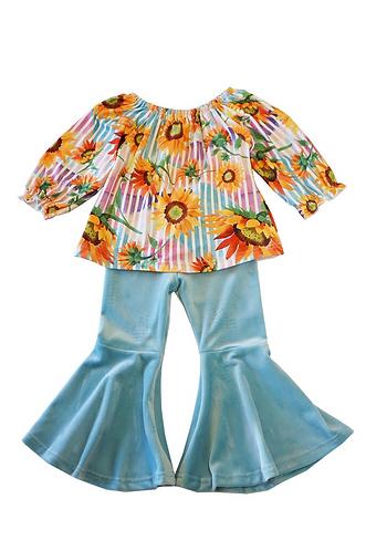 Sunflower Rainbow Pants Set