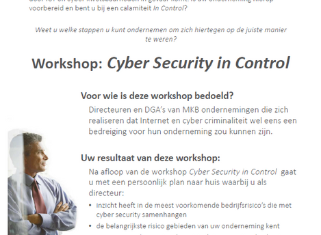 Workshop Cyber Security in Control
