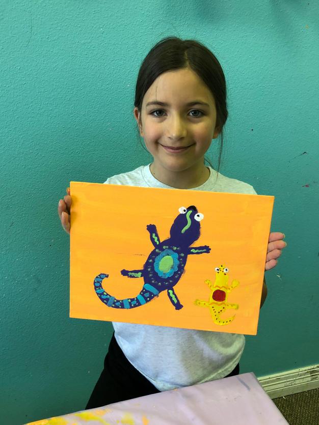 Gecko on Canvas