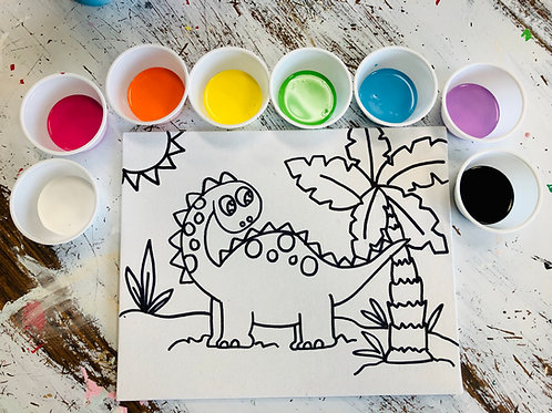 Dino on Canvas