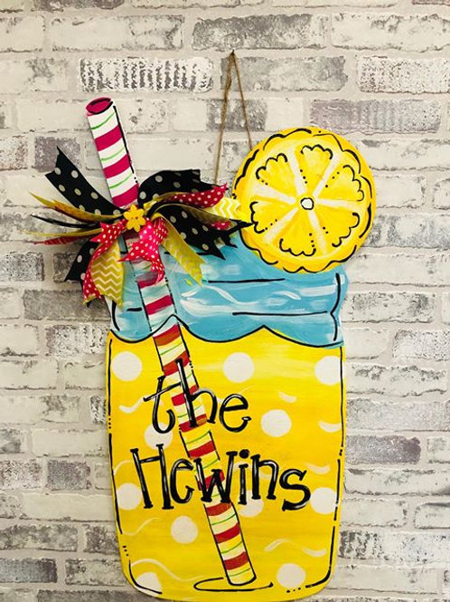 Lemonade Door Hanger