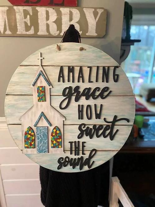 Amazing Grace Door Hanger