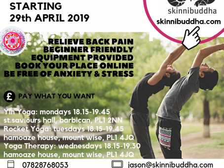 YOGA CLASSES IN PLYMOUTH RESUME FROM APRIL 29TH 2019