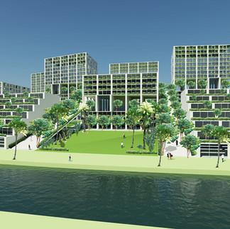 プンゴル地区集合住宅と都市デザイン