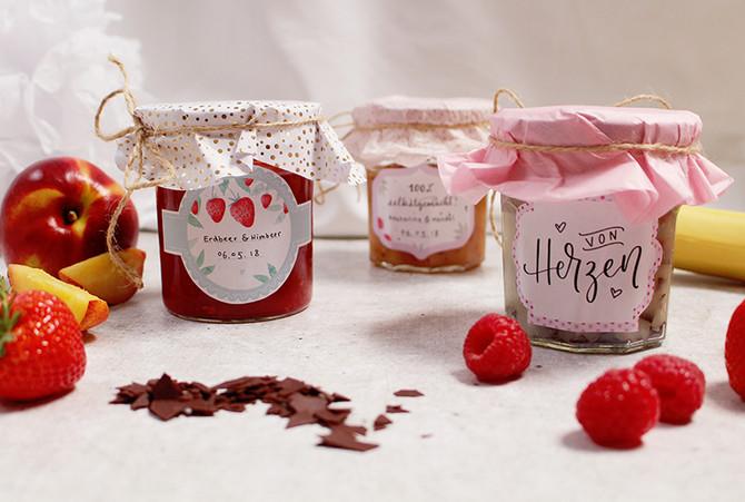 Hübsche Etiketten für unsere selbstgemachte Marmelade