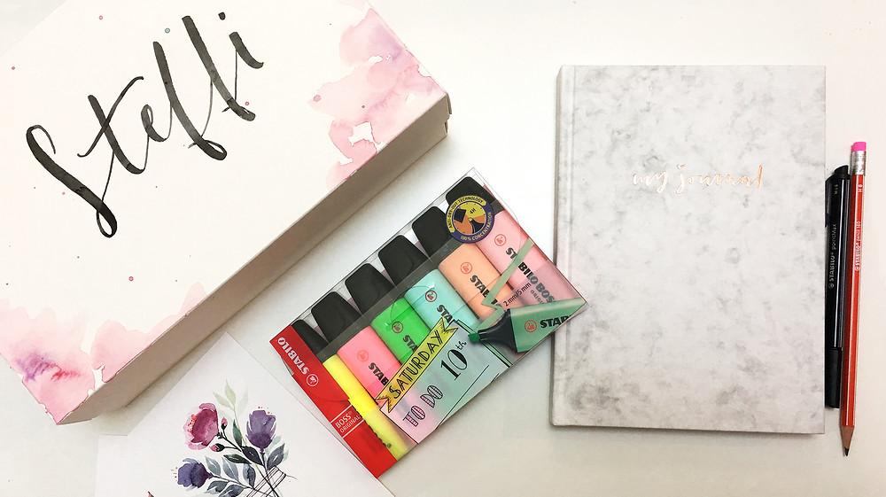 Bullet Journaling Goodiebox Buntbox Stabilo