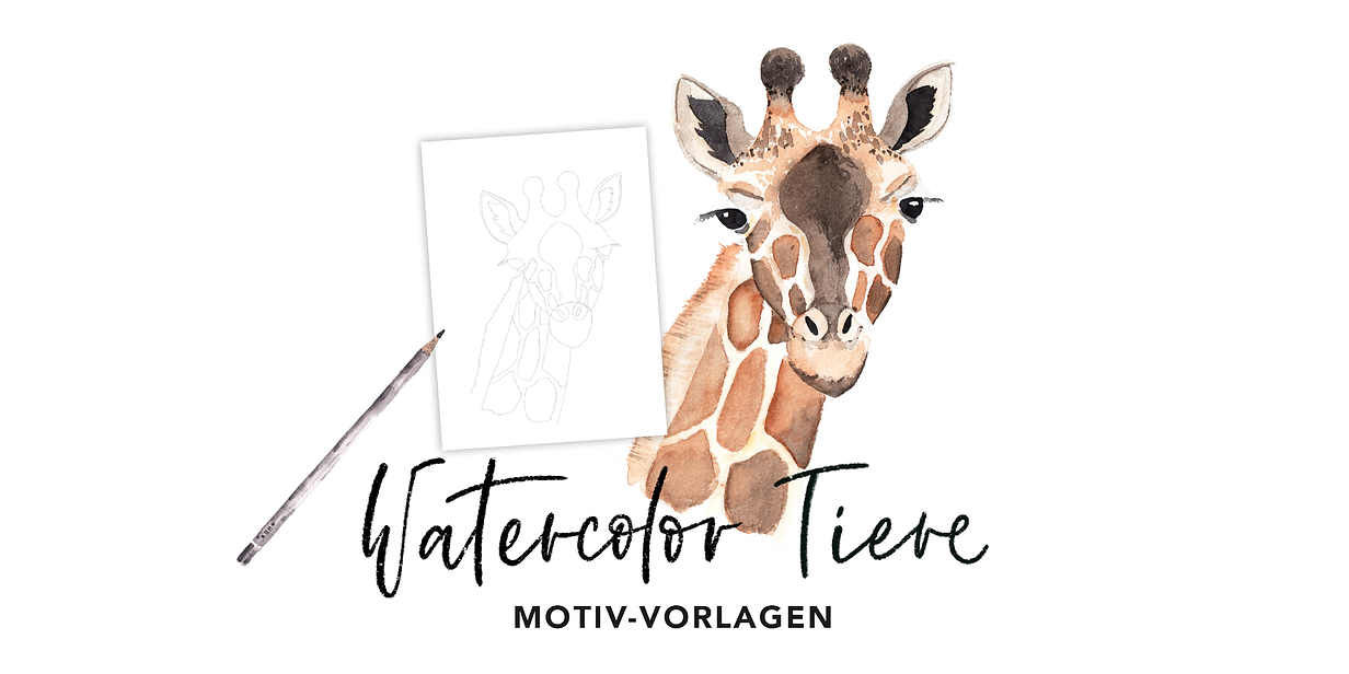 Workshop Header_Watercolor Tiere__Vorlag