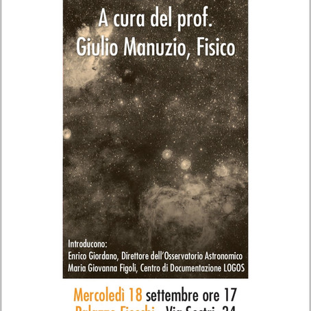 """""""La Storia Dell'Universo"""" 18/09/2019"""