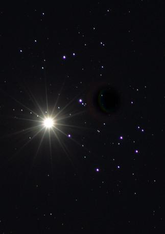 Pleiades (M45) and Venus