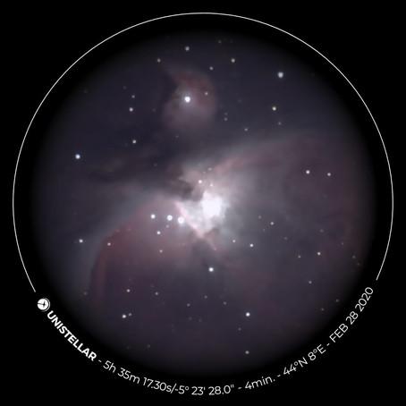 """""""Prima luce - EVscope Unistellar"""" 28/02/2020"""